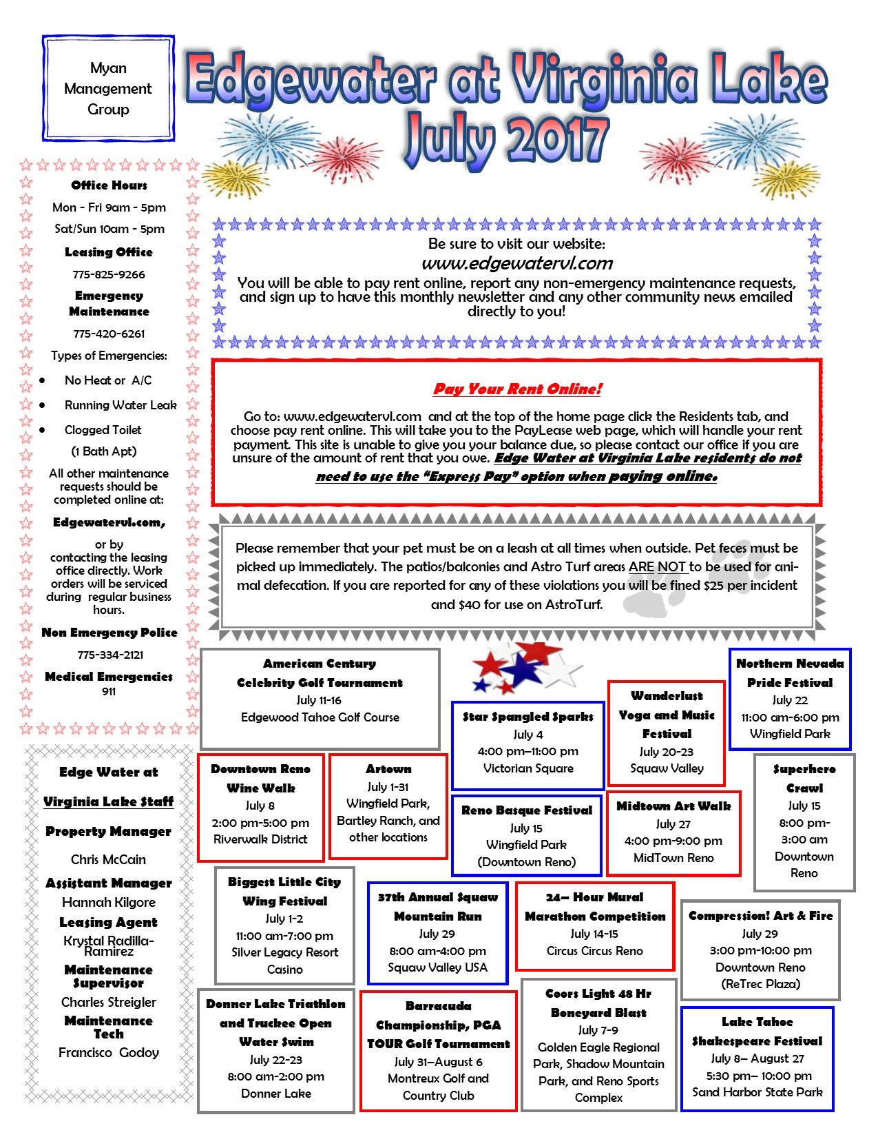 July 2017 Newsletter